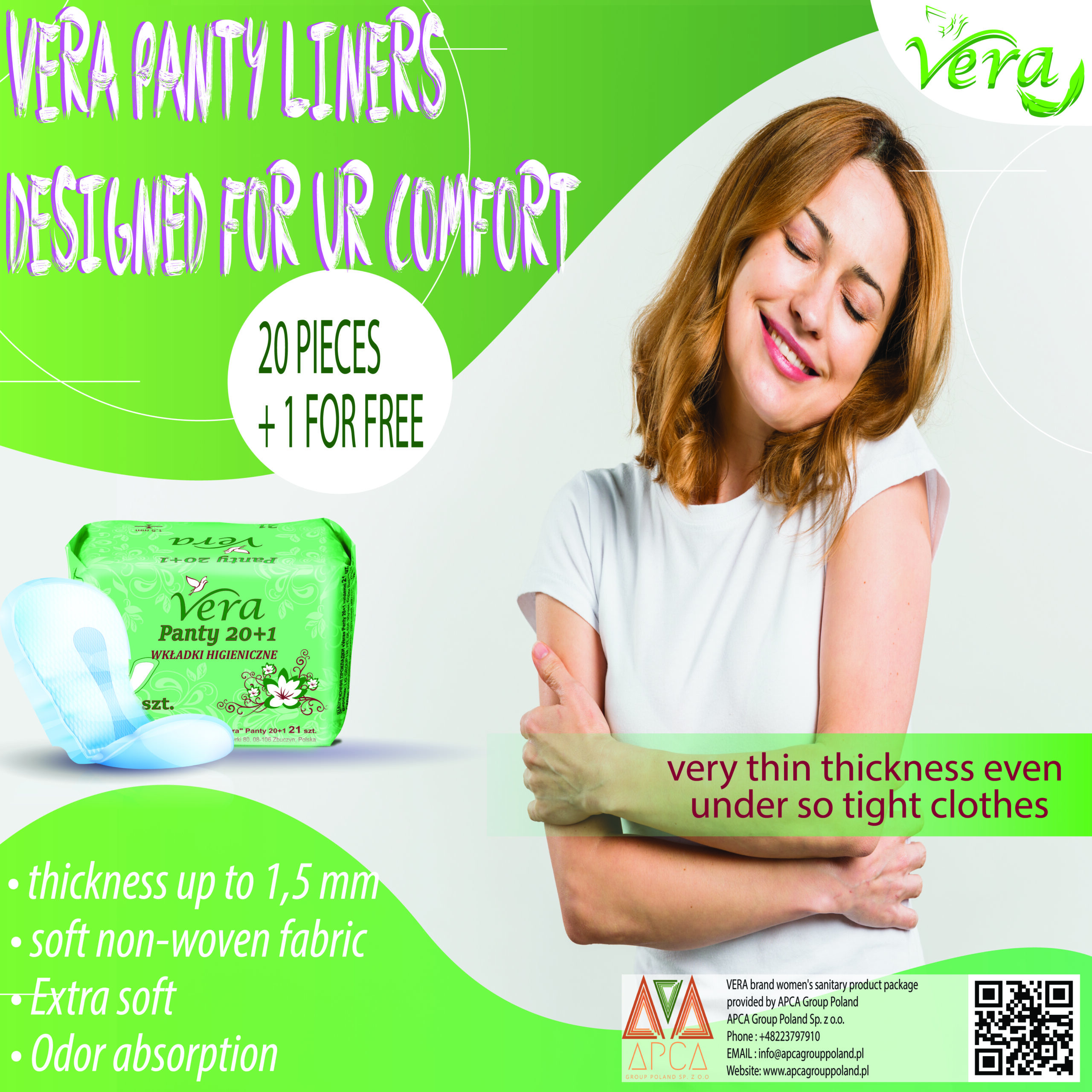 Panty liners 20+1 for free